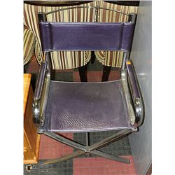 CHROME & PURPLE DIRECTORS CHAIR