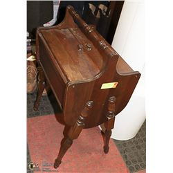 ANTIQUE SEWING KIT 26 INCH TALL