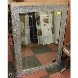 "NEW LARGE ""CRINKLE MIRROR"" 31 X 43 WITH DECORATIVE"