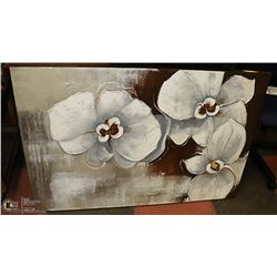 LARGE DECORATIVE FLOWERS CANVAS WITH HARDWARE