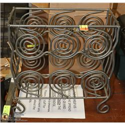 IRON SWIRL DESIGN MAGAZINE RACK