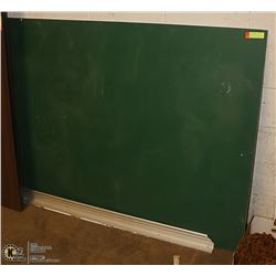 """58"""" RECLAIMED SCHOOL BLACKBOARD WITH CHALK TRAY"""