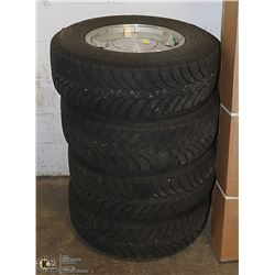 SET OF 4 GOODYEAR WINTER TIRES ON RIMS, 245/70R16