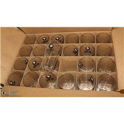 BOX OF 24 NEW BIG ROCK BEER GLASSES