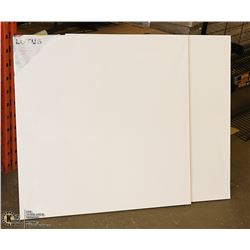 "LOT OF 2 ARTISTIC PAINTING CANVASES 36"" X 36"""
