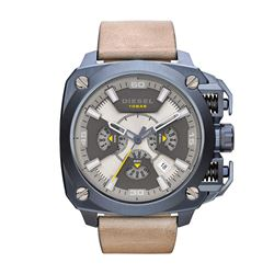 NEW DIESEL 56MM CHRONO OVERSIZE MSRP $395 WATCH