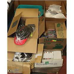 PALLET OF HATS, NECKLACES, CDS, LIGHTERS & MORE
