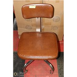 VINTAGE MID CENTURY ADJUSTABLE OFFICE CHAIR