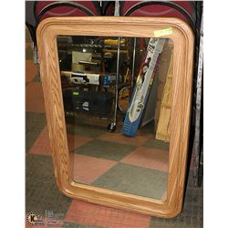LARGE MIRROR WITH WOODEN FRAME 30 X 32