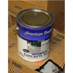 LOT WITH 3 CASES OF 4 GALLON  GREYCONCRETE STAIN