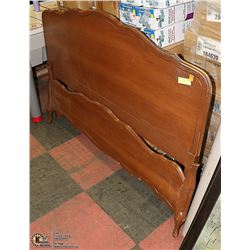 FRENCH PROVINCIAL HEADBOARD AND FOOTBOARD