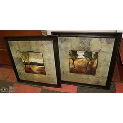 SET OF TWO WALL PICTURES