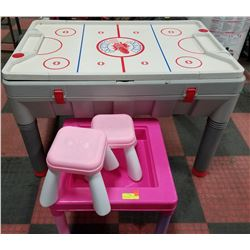 KIDS ACTIVITY TABLES/ WITH MATCHING CHAIRS