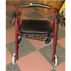EXTRA WIDE WALKER WITH BRAKES