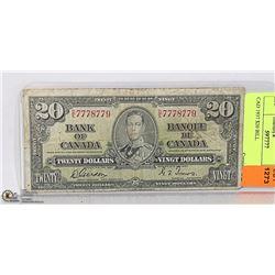 CAD 1937 $20 BILL