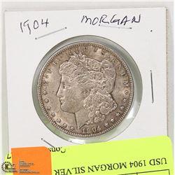 USD 1904 MORGAN SILVER DOLLAR