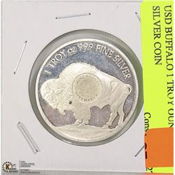 USD BUFFALO 1 TROY OUNCE .999 SILVER COIN