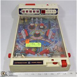 VINTAGE ATOMIC PINBALL TABLE TOP GAME