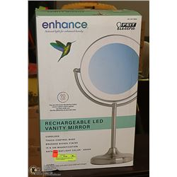 ENHANCE RECHARGEABLE LED VANITY MIRROR