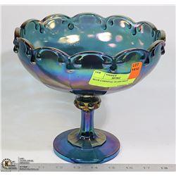 BLUE CARNIVAL GLASS PIECE