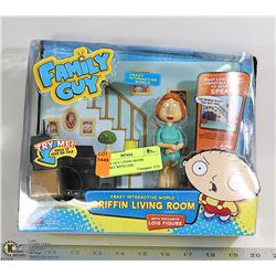 FAMILY GUY LIVING ROOM PLAY-SET WITH LOIS