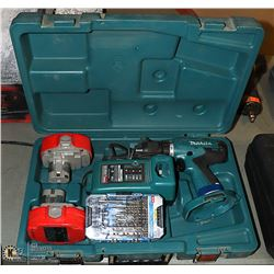 18 VOLT  MAKITA DRILL WITH CHARGER & BATTERIES