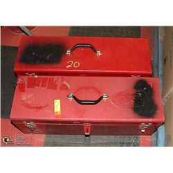 LOT OF 2 RED TOOLBOXES (METAL)