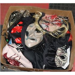 BOX WITH 5 HALLOWEEN COSTUMES, MASKS