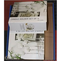 2 BOXES CANDLE HOLDER SET OF 5 WITH CANDLES