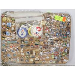 COLLECTOR PINS 150 ASSORTED PINS ON BOARD &