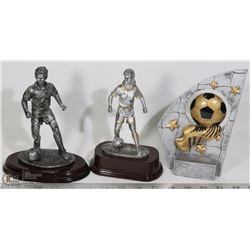 LOT OF 3 SOCCER TROPHIES