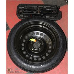 GOOD YEAR TEMPORARY SPARE TIRE +JACK,LUG WRENCH