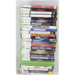 FLAT OF 20 PLUS XBOX 360 GAMES. ELECTRONICS