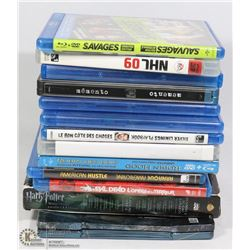 BUNDLE OF BLU RAY DVDS. ELECTRONICS