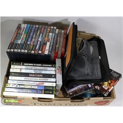 FLAT OF ASSORTED GAMES, INCLUDES XBOX, PS3 AND