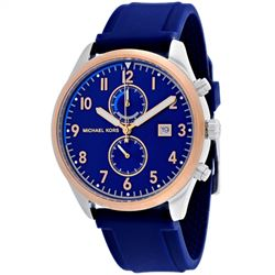 NEW MICHAEL KORS BLUE DIAL 43MM MSRP $333