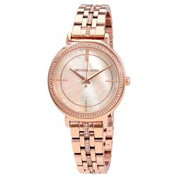 NEW MICHAEL KORS M-O-PEARL ROSE-GOLD TONE MSRP$345