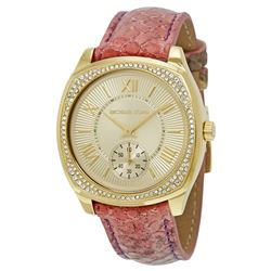 NEW MICHAEL KORS 40MM GOLD PAVE DIAL MSRP $333