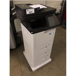 SAMSUNG PROXPRESS M4580FX DIGITAL MULTIFUNCTION COPIER WITH 4 PAPER TRAYS AND MOBILE BASE