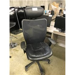 BLACK HIGH BACK MULTI LEVER TASK CHAIR  (CONDITION ISSUES)