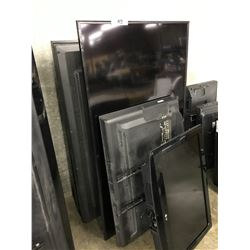 3 LARGE AND  2 SMALL LCD TVS WITH NO REMOTES - CONDITION UNKNOWN