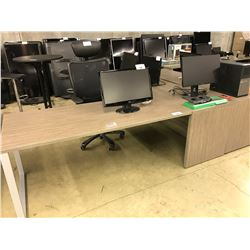 GREY OAK 7.5 X 7.5' L-SHAPE EXECUTIVE DESK