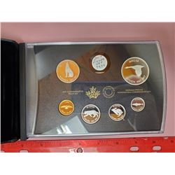 2017 PROOF SET - SILVER & GOLD PLATING
