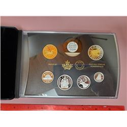2019 PROOF SET, SILVER & GOLD PLATING