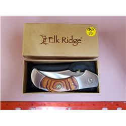 ELK RIDGE FOLDING KNIFE & EXTRA BLADES- NEW