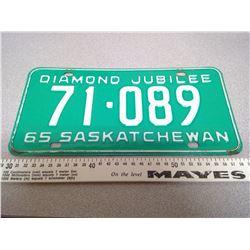 1965 SASKATCHEWAN DIAMOND JUBILEE