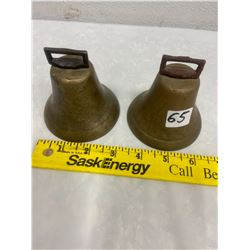 2 Brass Bells - Original Dongers