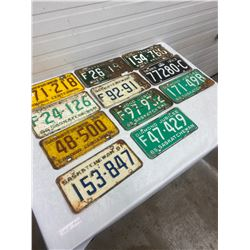 Lot 1950's & 1960's Licence Plates