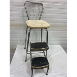 Art Deco - Kitchen Step Stool - Chair