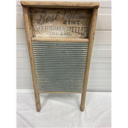 Zinc Washboard - Marshall Wells Co.